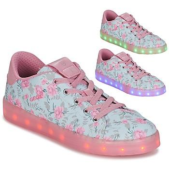 Schuhe Mädchen Sneaker Low Geox J KOMMODOR G. B Blau / Rose