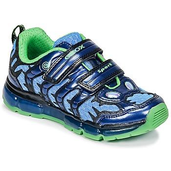 Schuhe Jungen Sneaker Low Geox J ANDROID B. B Marine / Grün