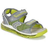 Schuhe Jungen Sportliche Sandalen Geox J S.ANDROID B.A Grau / Grün
