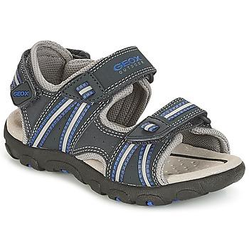Schuhe Jungen Sportliche Sandalen Geox J S.STRADA A Marine