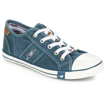 Schuhe Damen Sneaker Low Mustang RUGARL Blau