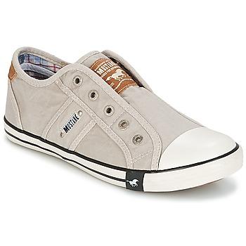 Schuhe Damen Sneaker Low Mustang NAJERILLA Grau
