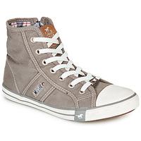 Schuhe Damen Sneaker High Mustang GALLEGO Grau