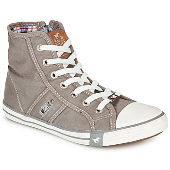 Schuhe Damen Sneaker High Mustang GALLEGO Grau / Silbern