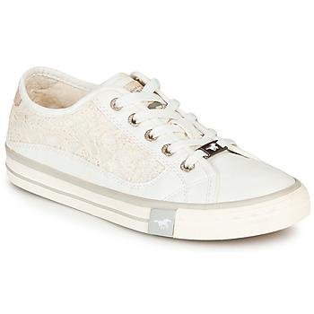 Schuhe Damen Sneaker Low Mustang ROULIA Weiss