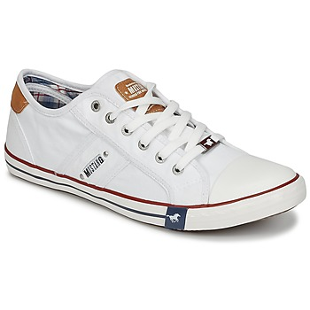 Schuhe Herren Sneaker Low Mustang TIRON Weiss