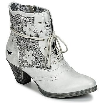 Schuhe Damen Low Boots Mustang JIPIRI Silbern