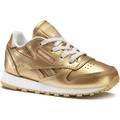 Schuhe Kinder Sneaker Low Reebok Classic Classic Leather Metallic Gold / Weiß