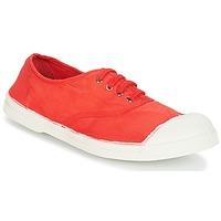 Schuhe Damen Sneaker Low Bensimon TENNIS LACET Rot