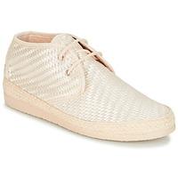 Schuhe Damen Leinen-Pantoletten mit gefloch Ippon Vintage SMILE-DRESSCOD Weiss