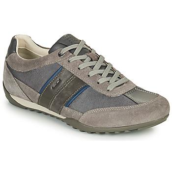 Schuhe Herren Sneaker Low Geox U WELLS C Grau