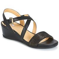 Schuhe Damen Sandalen / Sandaletten Geox MARYKARMEN A Schwarz