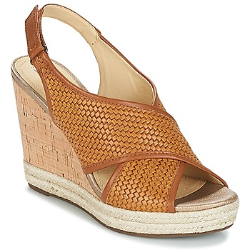 Schuhe Damen Sandalen / Sandaletten Geox JANIRA C Braun