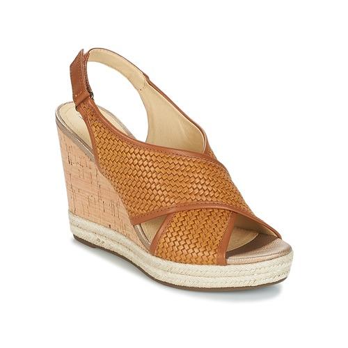 Geox JANIRA C Braun  Schuhe Sandalen / Sandaletten Damen 87,20