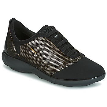 Schuhe Damen Sneaker Low Geox D NEBULA C Gold / Schwarz