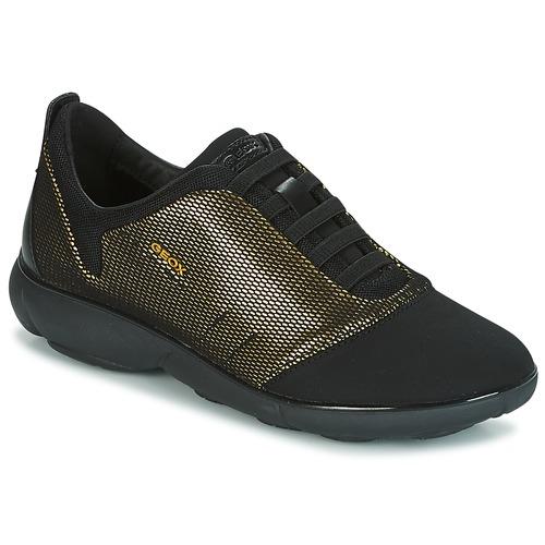 Geox D NEBULA C Gold / Schwarz  Schuhe Sneaker Low Damen 103,20
