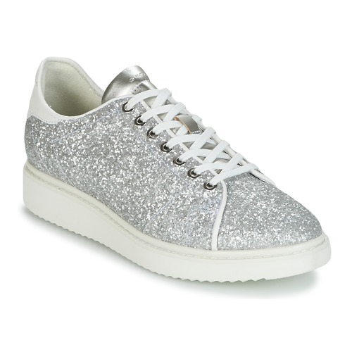 Geox D THYMAR C Silbern / Weiss  Schuhe Sneaker Low Damen 92