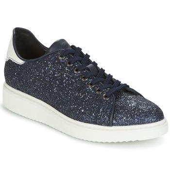 Schuhe Damen Sneaker Low Geox D THYMAR C Blau / Weiss