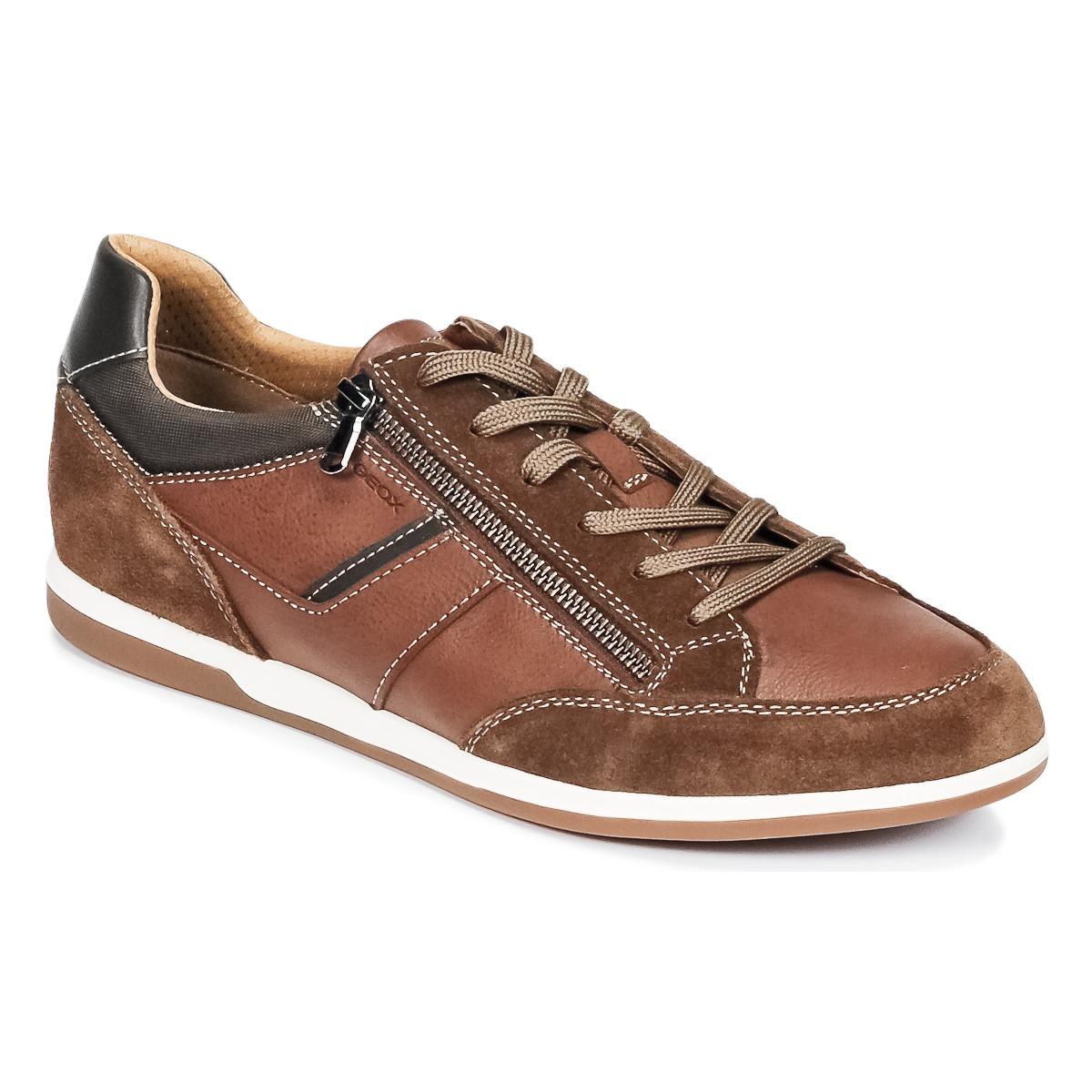 Geox U RENAN C Braun - Kostenloser Versand bei Spartoode ! - Schuhe Sneaker Low Herren 79,99 €