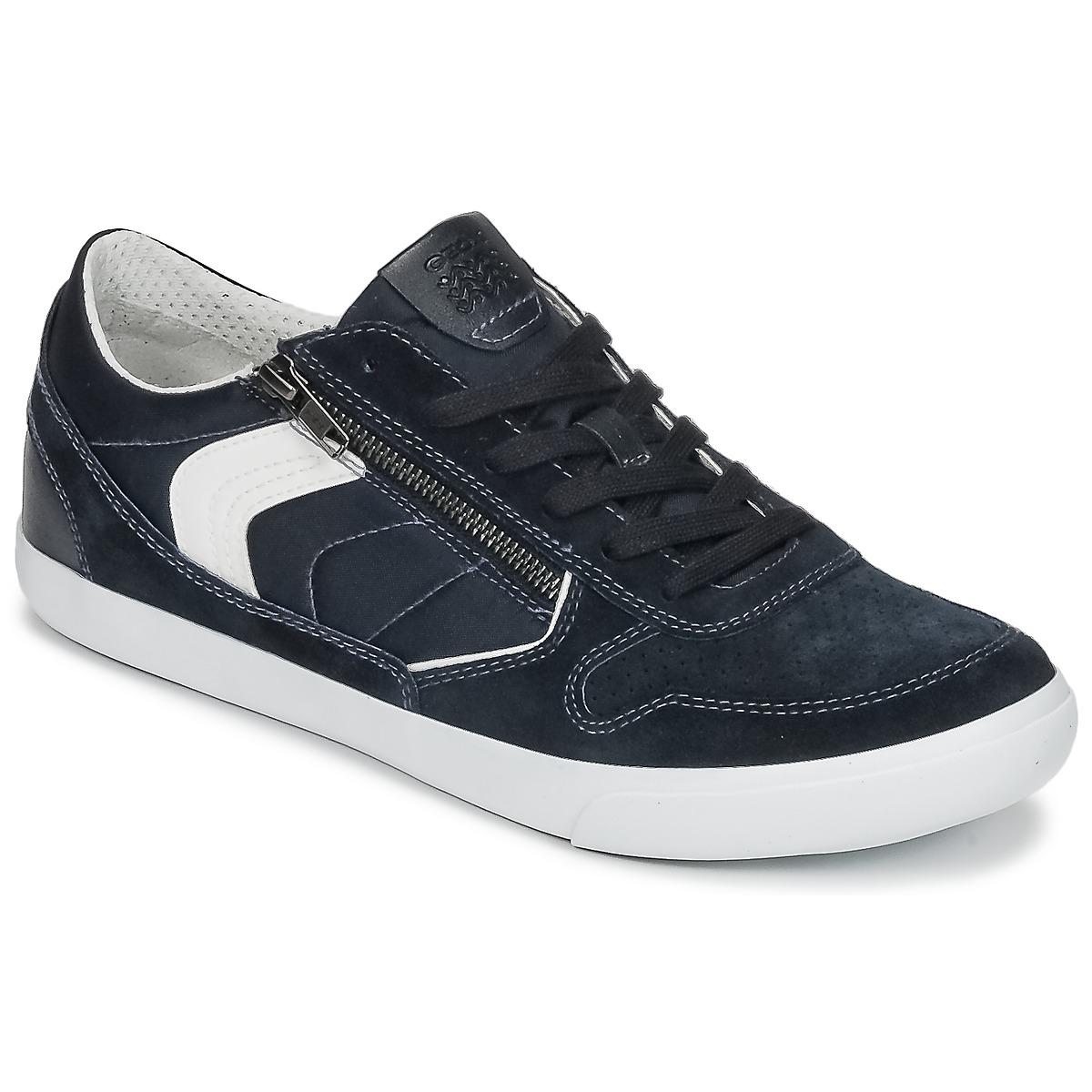 Geox U BOX C Blau - Kostenloser Versand bei Spartoode ! - Schuhe Sneaker Low Herren 59,99 €