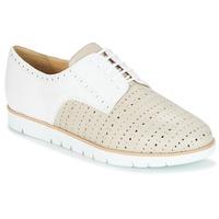 Schuhe Damen Derby-Schuhe Geox KOOKEAN Maulwurf / Weiss