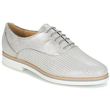 Schuhe Damen Derby-Schuhe Geox JANALEE A Grau / Weiss