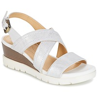 Schuhe Damen Sandalen / Sandaletten Geox MARYKARMEN P.B Weiss