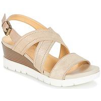 Schuhe Damen Sandalen / Sandaletten Geox MARYKARMEN P.B Gold / Beige