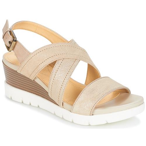 Geox MARYKARMEN P.B Gold / Beige  Schuhe Sandalen / Sandaletten Damen 87,20