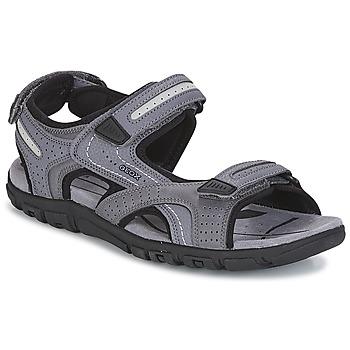 Schuhe Herren Sandalen / Sandaletten Geox S.STRADA D Grau