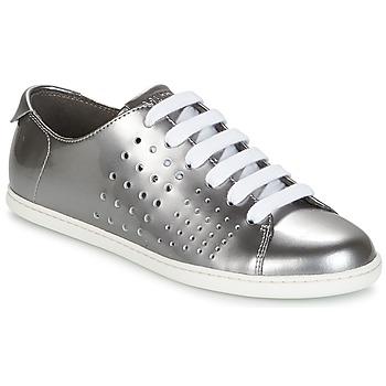 Schuhe Damen Sneaker Low Camper TWS Silbern