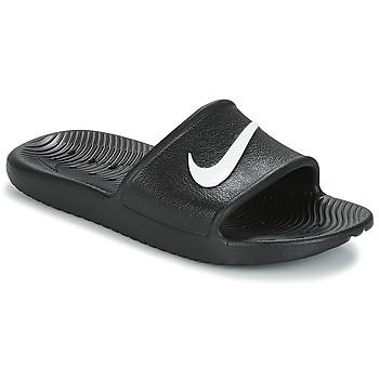 Schuhe Damen Pantoletten Nike KAWA SHOWER SANDAL W Schwarz / Weiss