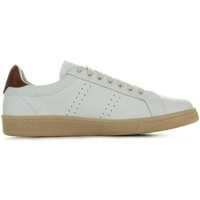 Schuhe Herren Sneaker Low Fred Perry Cracked Leather Porcelain Chesnut