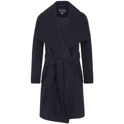 Kleidung Damen Mäntel De La Creme Kaschmir-Wintermantel mit großem Kragen Blue