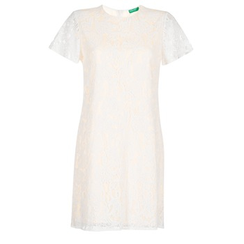 Kleidung Damen Kurze Kleider Benetton PRISTOUC Weiss
