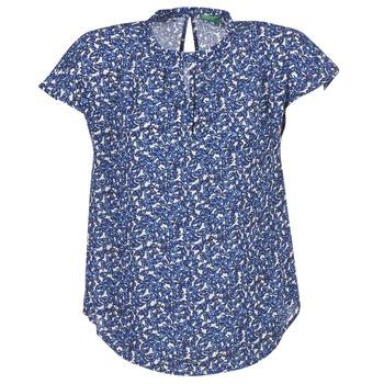 Kleidung Damen Tops / Blusen Benetton TOULEOK Blau / Weiss