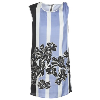 Kleidung Damen Kurze Kleider Sisley LAPOLLA Blau / Weiss / Schwarz