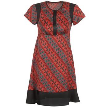 Kleidung Damen Kurze Kleider Sisley ZEBRIOLO Rot / Schwarz
