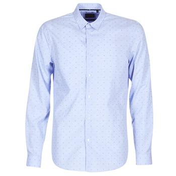 Kleidung Herren Langärmelige Hemden Sisley KELAPSET Blau