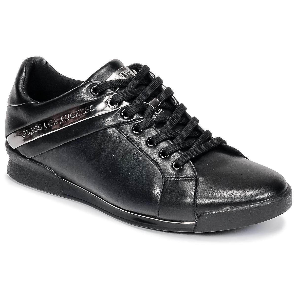 Guess NEW GEORG Schwarz - Kostenloser Versand bei Spartoode ! - Schuhe Sneaker Low Herren 87,50 €