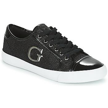 Schuhe Damen Sneaker Low Guess ELLY Schwarz