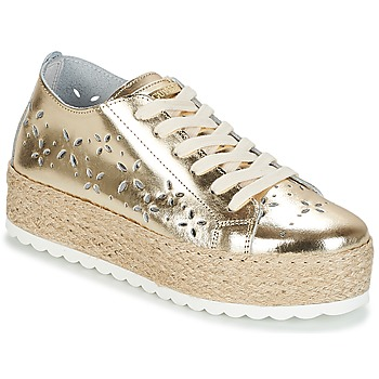 Schuhe Damen Sneaker Low Guess MARLEY Gold