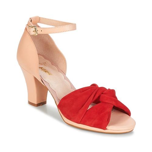 Miss L'Fire EVIE Rot / Rose  Schuhe Sandalen / Sandaletten Damen 124