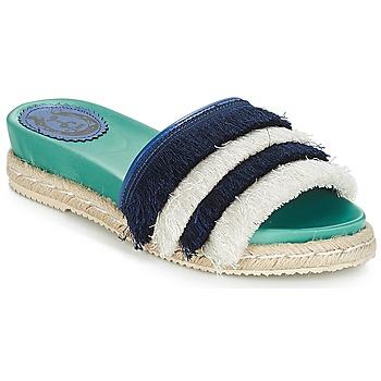 Schuhe Damen Pantoffel Miss L'Fire ZOEY Marine / Grün