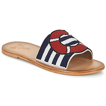 Schuhe Damen Pantoffel Miss L'Fire ALL ABOARD Marine