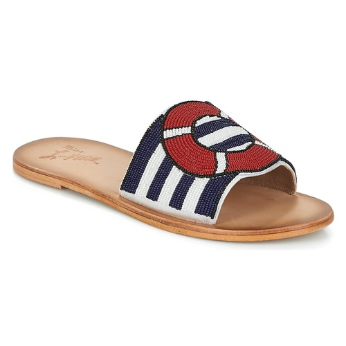 Miss L'Fire ALL ABOARD Marine  Schuhe Pantoffel Damen 87,20