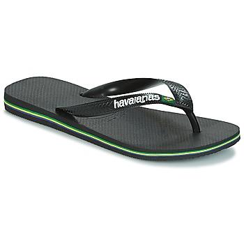 Schuhe Zehensandalen Havaianas BRAZIL LOGO Schwarz