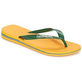 Schuhe Zehensandalen Havaianas BRAZIL LOGO Gelb