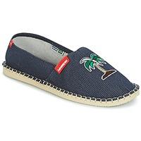 Schuhe Leinen-Pantoletten mit gefloch Havaianas ORIGINE FUN Blau