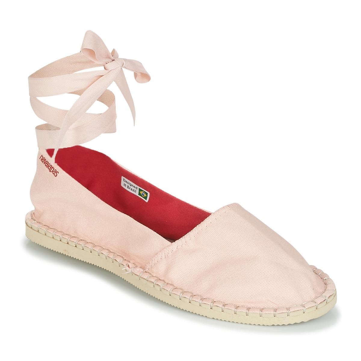 Havaianas ORIGINE SLIM Rose - Kostenloser Versand bei Spartoode ! - Schuhe Leinen-Pantoletten mit gefloch Damen 28,79 €